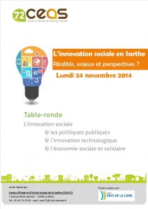 Table ronde innovation sociale 24 novembre 2016