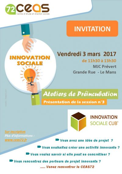 Innovation sociale, rencontre avec le CEAS72 le 3 mars 11h30
