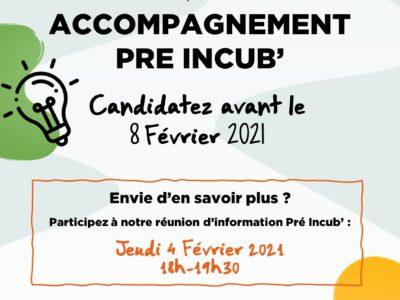 Appel à candidatures – Accompagnement Pré Incub' !