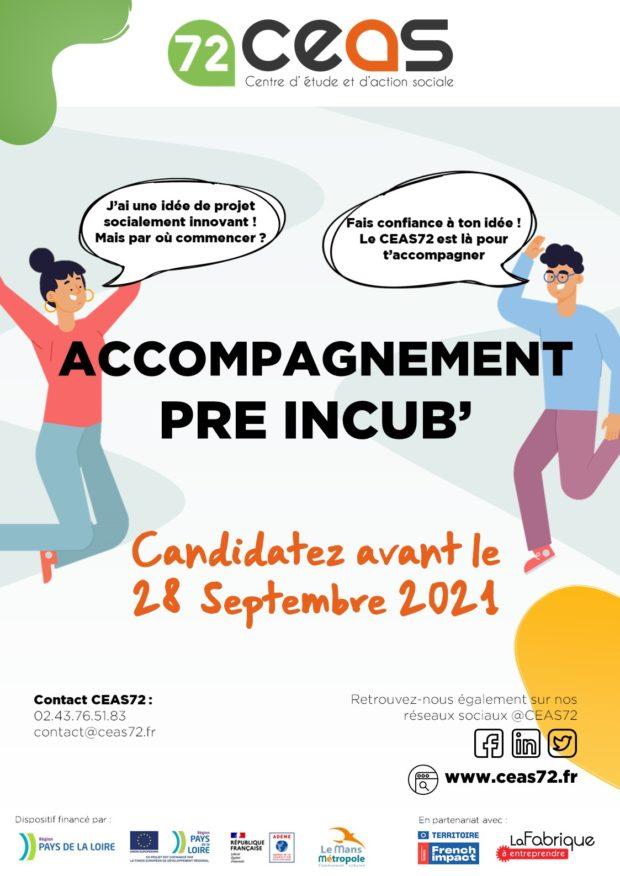 Lancement de l'appel à candidatures pour l'accompagnement Pré Incub' !